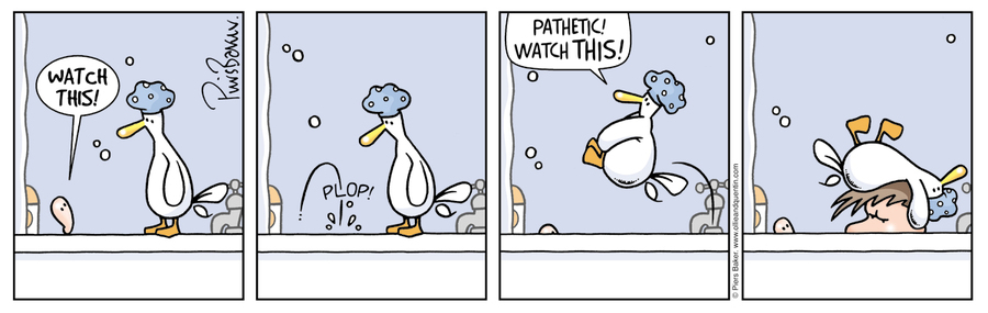 Ollie and Quentin for Feb 1, 2013 Comic Strip