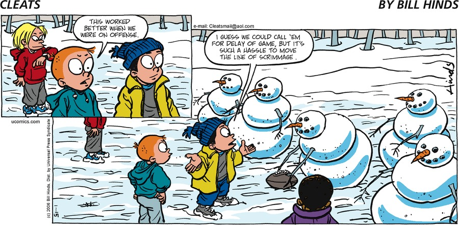 Cleats Comic Strip for January 15, 2006
