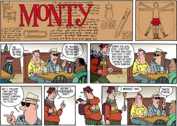 Monty on Sunday December 13, 2015 Comic Strip