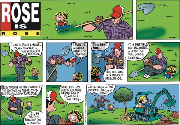 Rose is Rose - Sunday April 1, 2018 Comic Strip