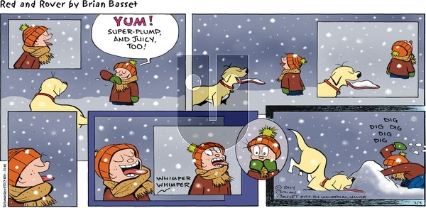 Red and Rover - Sunday February 9, 2014 Comic Strip