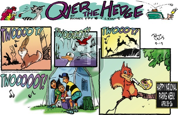 Over the Hedge on Sunday April 19, 2020 Comic Strip