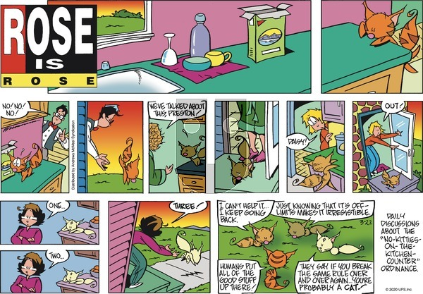 Rose is Rose - Sunday March 22, 2020 Comic Strip