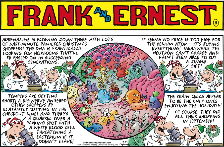Frank and Ernest Comic Strip for December 23, 2012