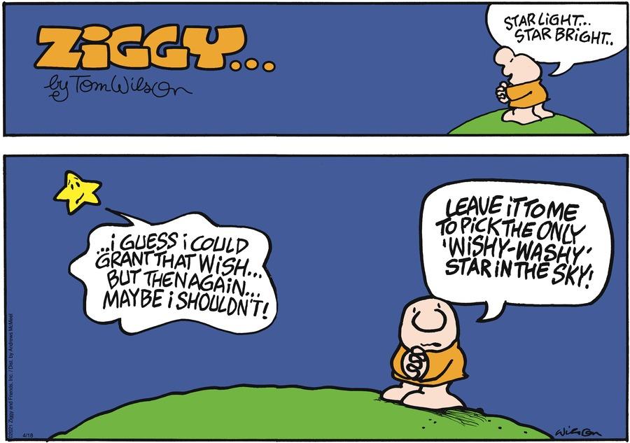 Ziggy Comic Strip for April 18, 2021