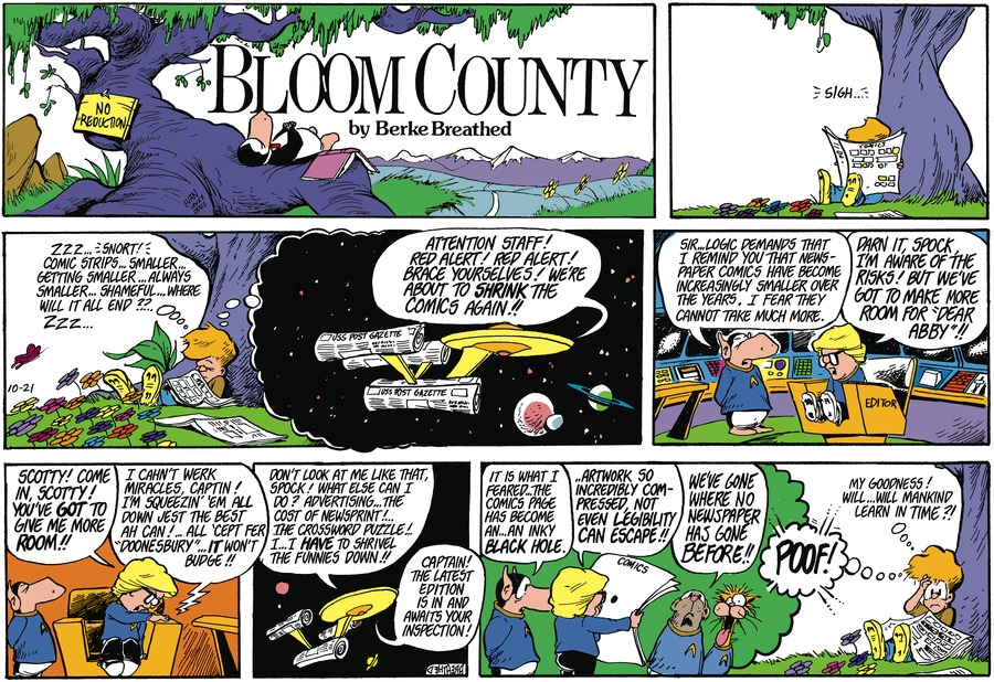 Bloom County by Berkeley Breathed on Mon, 21 Sep 2020