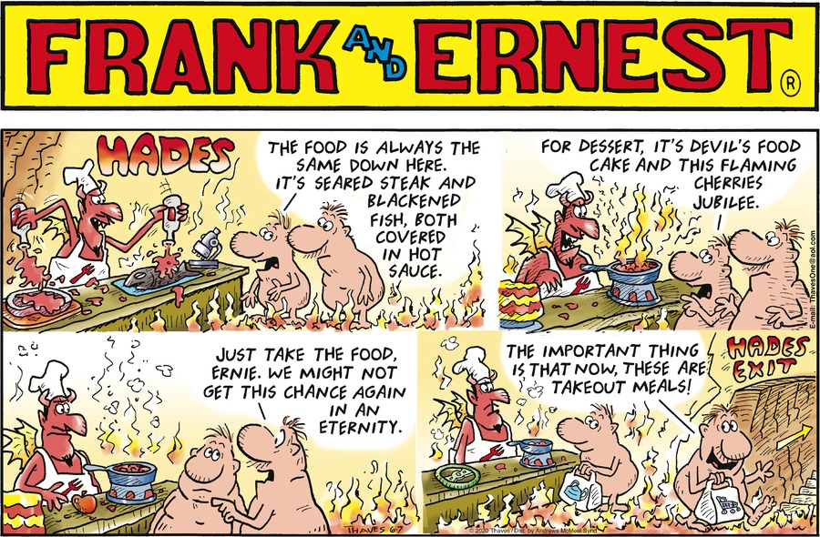 Frank and Ernest Comic Strip for June 07, 2020