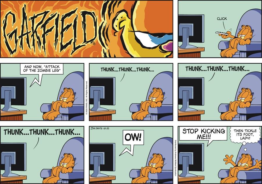 Garfield Comic Strip for October 25, 2020
