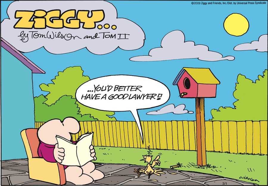 Ziggy Comic Strip for March 01, 2009