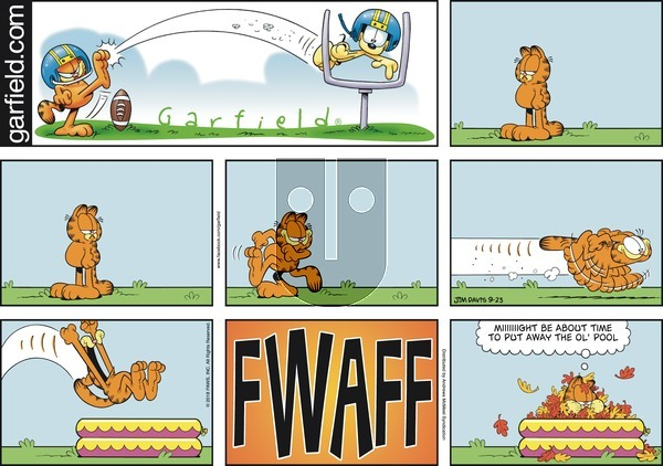 Garfield - Sunday September 23, 2018 Comic Strip