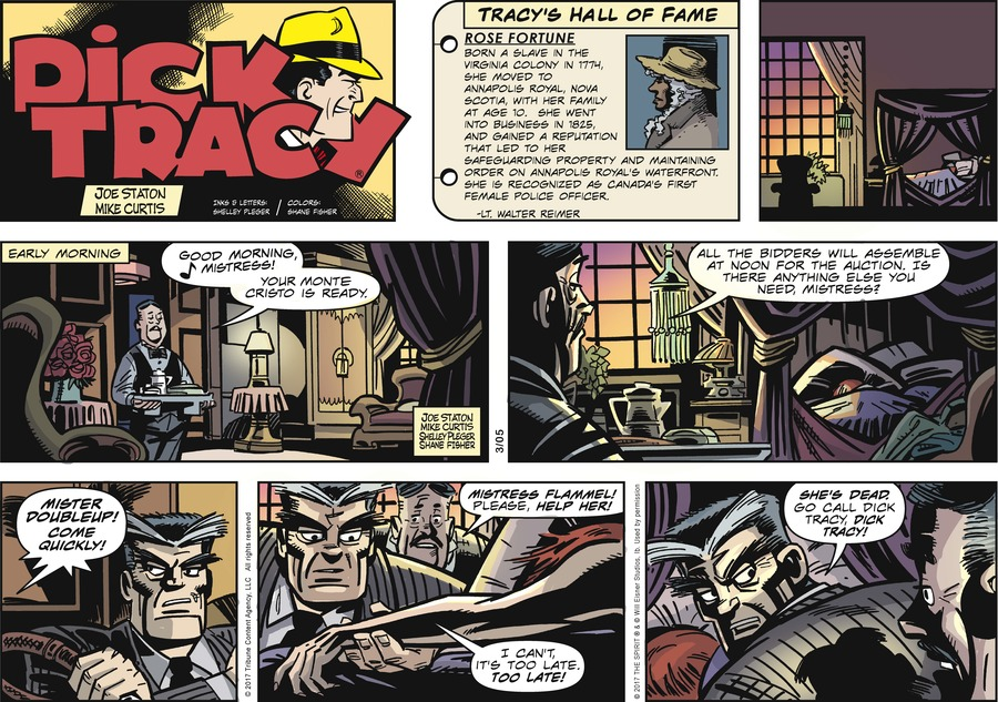 Dick Tracy Comic Strip for March 05, 2017