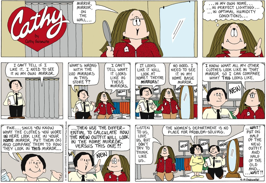Cathy for Sep 19, 1999 Comic Strip