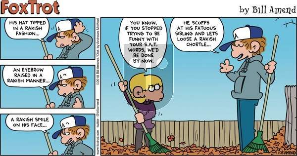 FoxTrot on Sunday November 25, 2018 Comic Strip