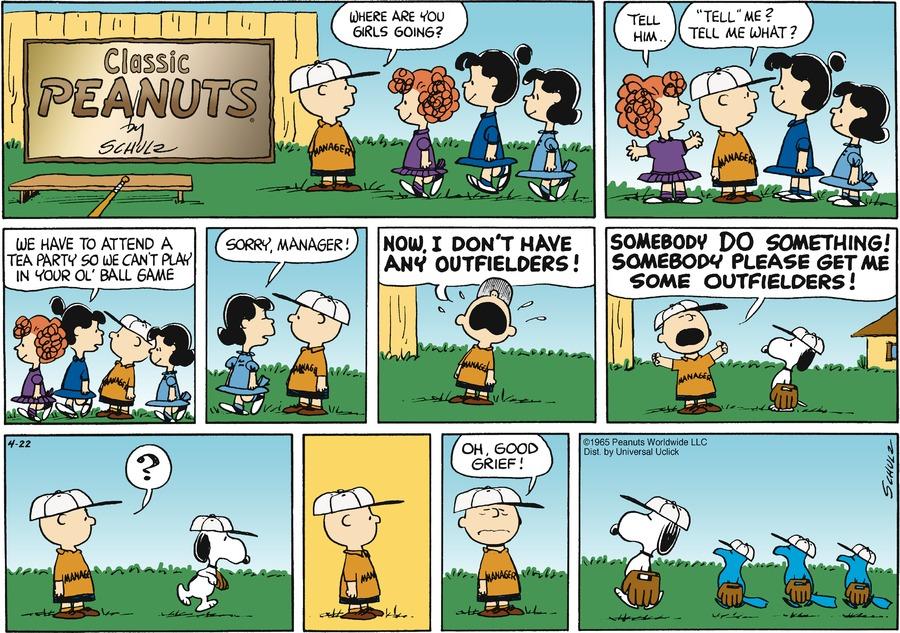 Peanuts Comic Strip for April 22, 2012