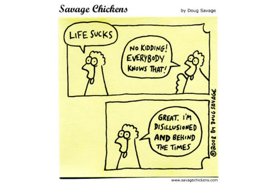 Savage Chickens for Nov 9, 2012 Comic Strip