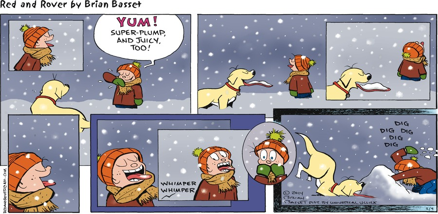 Red and Rover Comic Strip for February 09, 2014