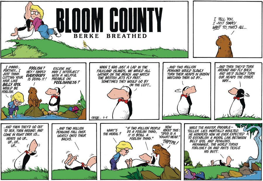 Bloom County Comic Strip for April 26, 2021