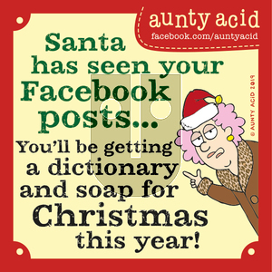 Aunty Acid on Tuesday December 24, 2019 Comic Strip
