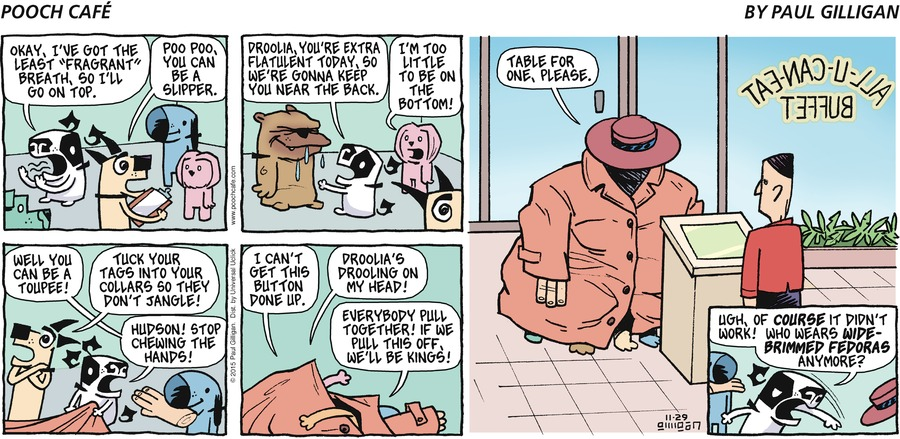 Pooch Cafe Comic Strip for November 29, 2015