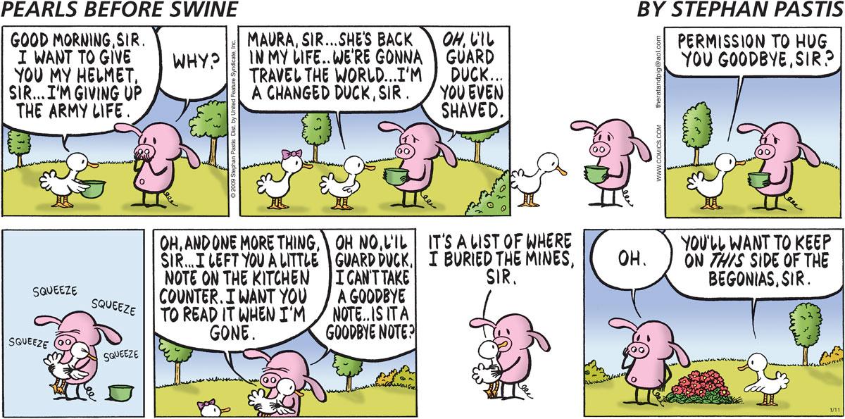 Pearls Before Swine for Jan 11, 2009 Comic Strip