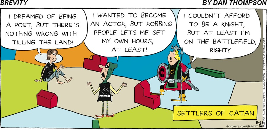 Brevity for May 13, 2018 Comic Strip