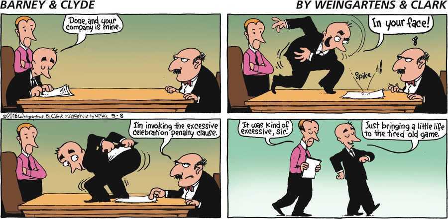 Barney & Clyde Comic Strip for May 08, 2016