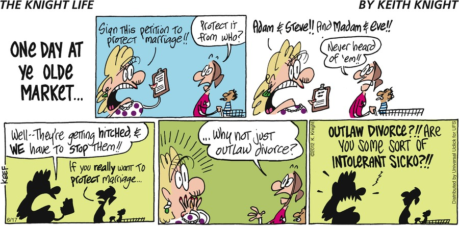 The Knight Life Comic Strip for June 17, 2012