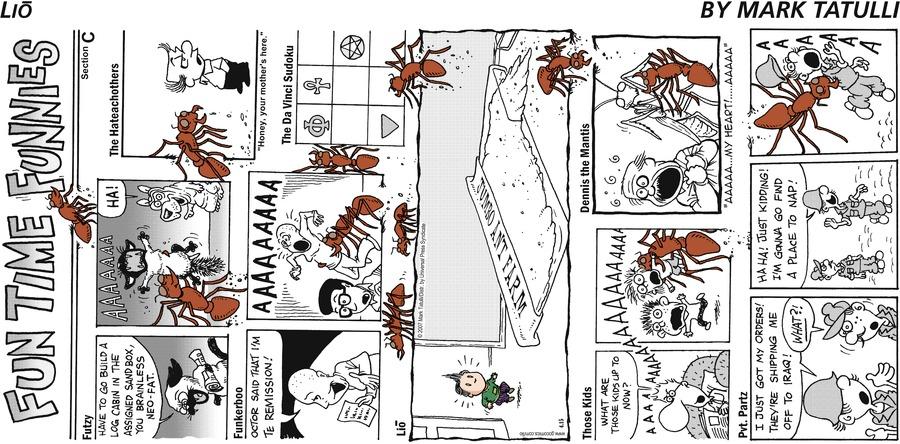 Lio for Apr 15, 2007 Comic Strip