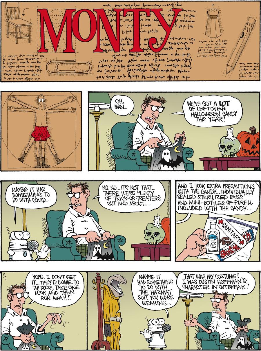 Monty Comic Strip for November 01, 2020