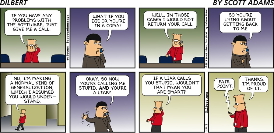 What If You Are In A Coma - Dilbert by Scott Adams