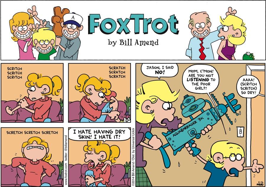 FoxTrot Comic Strip for November 16, 2014