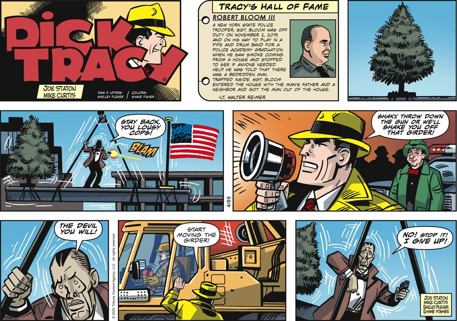 Dick Tracy Comic Strip for April 05, 2020