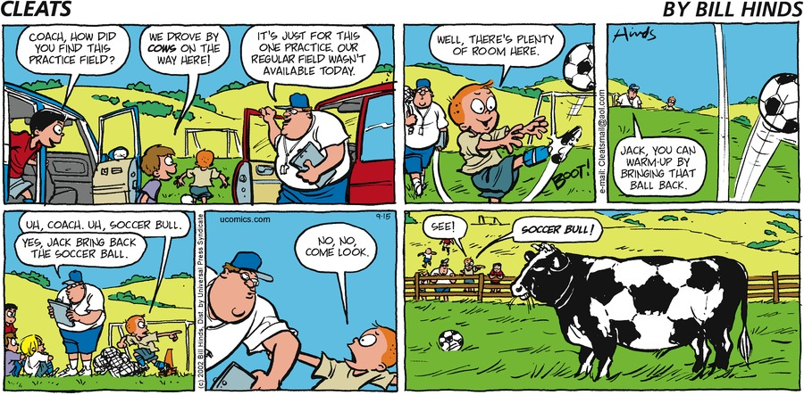 Cleats Comic Strip for September 15, 2002
