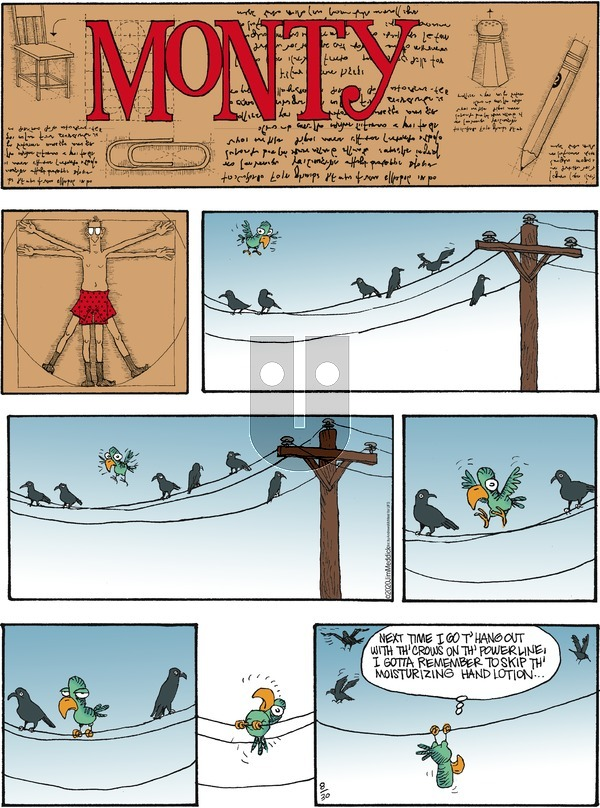 Monty on Sunday August 30, 2020 Comic Strip
