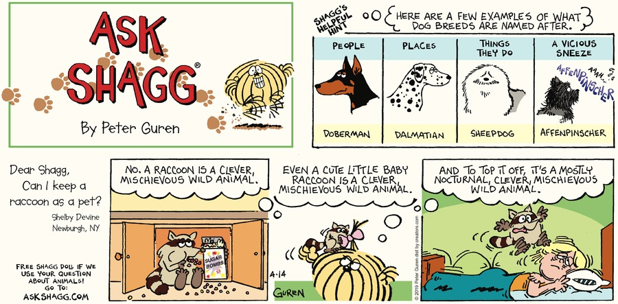 Ask Shagg Comic Strip for April 14, 2019