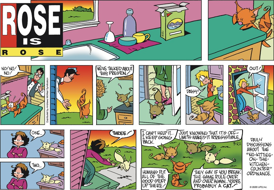 Rose is Rose Comic Strip for March 22, 2020