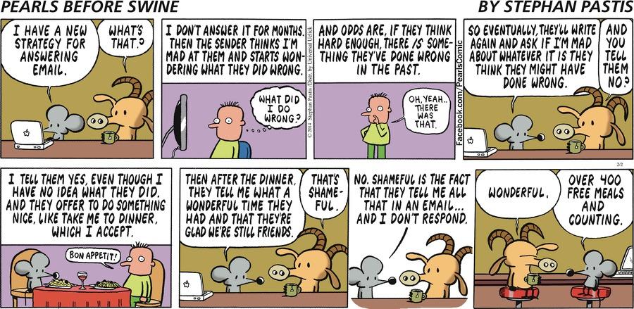 Pearls Before Swine for Feb 2, 2014 Comic Strip