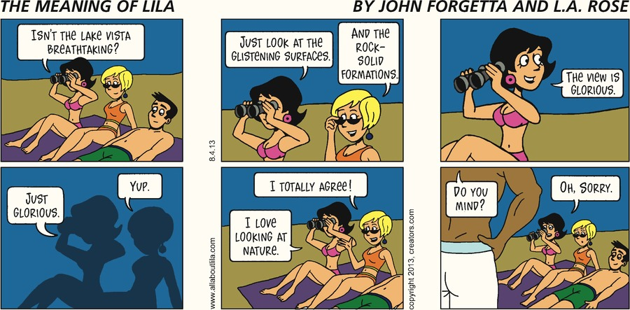 The Meaning of Lila for Aug 4, 2013 Comic Strip
