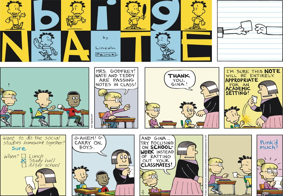 Big Nate Comic Strip for March 07, 2021