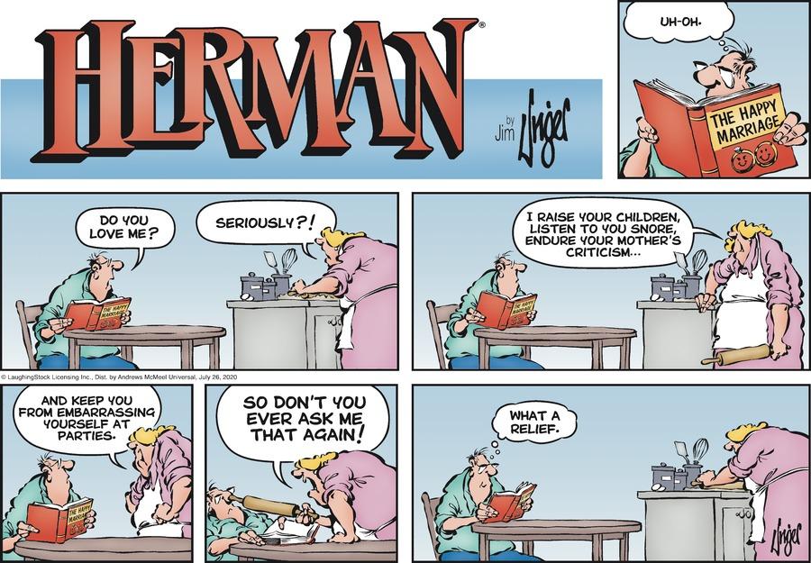 Herman Comic Strip for July 26, 2020
