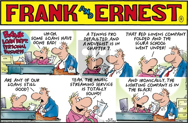 Frank and Ernest on Sunday June 21, 2015 Comic Strip