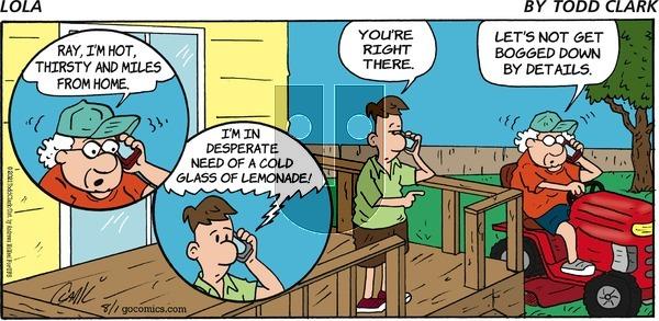 Lola - Sunday August 1, 2021 Comic Strip