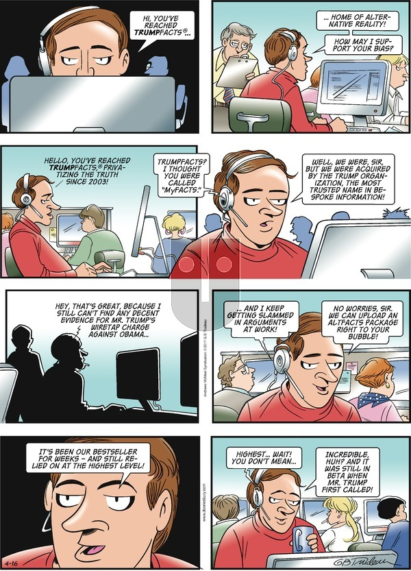 Doonesbury on Sunday April 16, 2017 Comic Strip