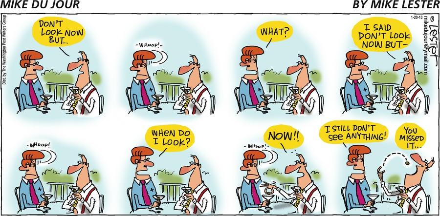 Mike du Jour for Jan 20, 2013 Comic Strip