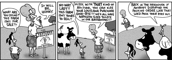 2 Cows and a Chicken Comic Strip for July 03, 2008