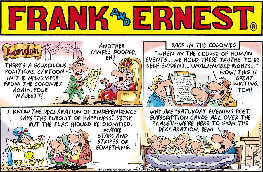 Frank and Ernest Comic Strip for July 06, 2014