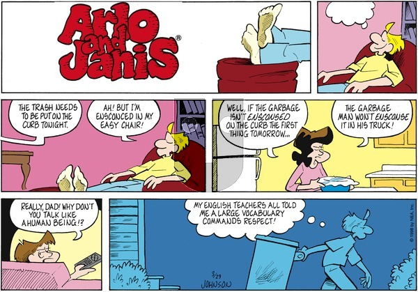 Arlo and Janis on Sunday March 29, 1998 Comic Strip