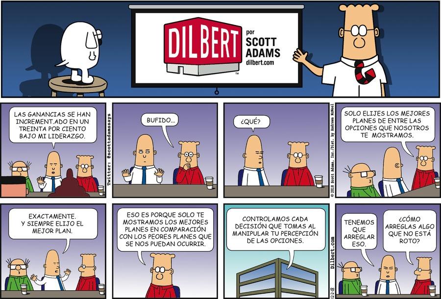 Dilbert en Español by Scott Adams for December 02, 2018