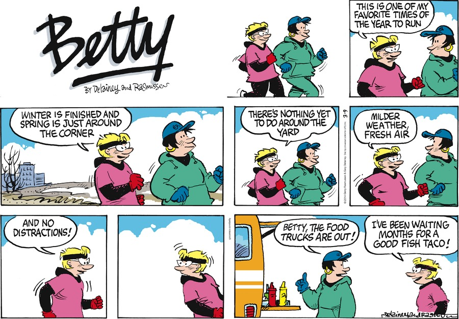 Betty for Mar 9, 2014 Comic Strip