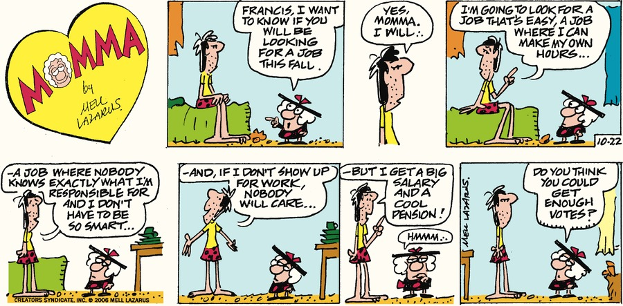Momma for Oct 22, 2017 Comic Strip